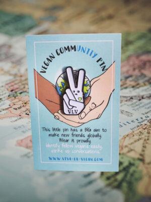 28mm Statement Enamel Pin: VEGAN CommUNITY by eco-ethical brand Viva La Vegan