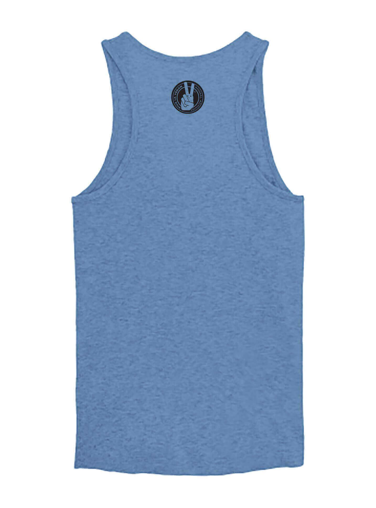 Women's Vest: Vegan Tribe: BLUE HEATHER
