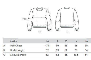 womens sweatshirt spec