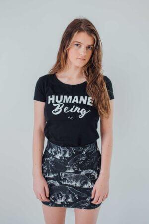 VLV humane being black t shirt