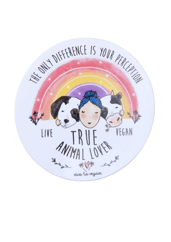 Vinyl Vegan Sticker - Animal Lover