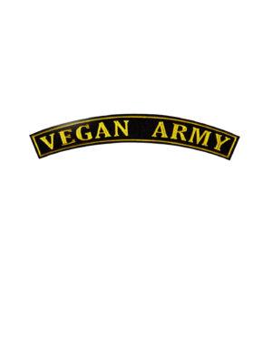 Vegan army patch by eco-ethical brand Viva La Vegan