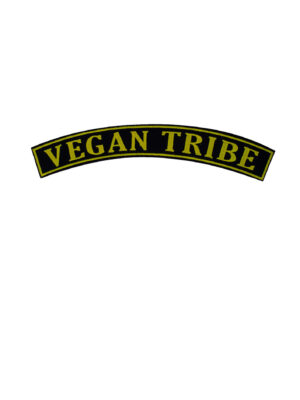 Vegan tribe rocker patch in yellow and black by eco-ethical brand Viva La Vegan
