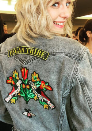 Vegan Tribe patch in black and yellow by eco-ethical brand Viva La Vegan