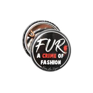 25mm Statement Badge: Crime of Fashion