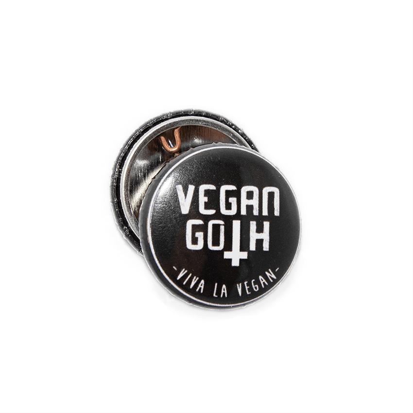 25 mm Statement Badge: Vegan Goth