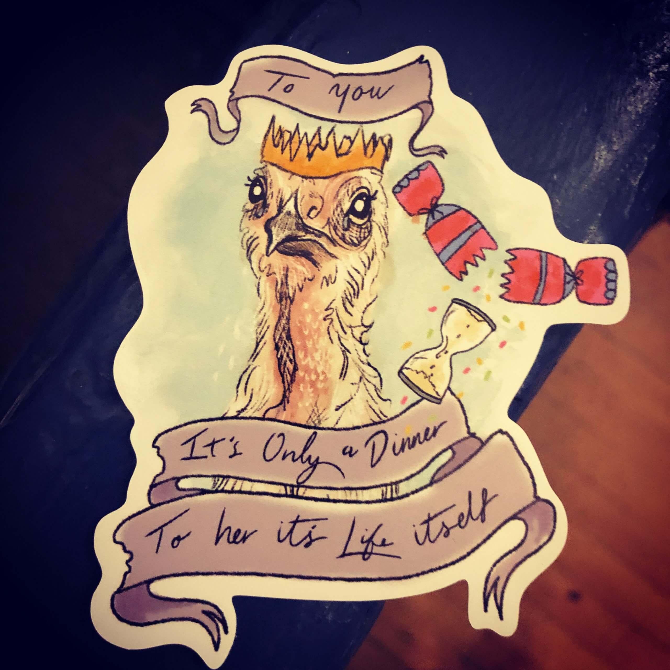 Vinyl Vegan Sticker - Life itself!