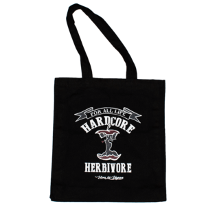 Hardcore Herbivore Black Organic Canvas Shopper