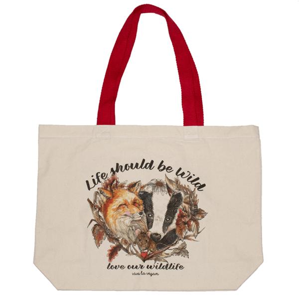 Life Should Be Wild- Natural Organic Canvas 8oz Shopper