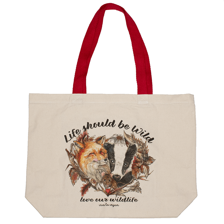 Life Should Be Wild- Natural Organic Canvas 8oz Shopper