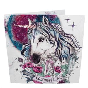 Greetings Card: Cosmic Vegan