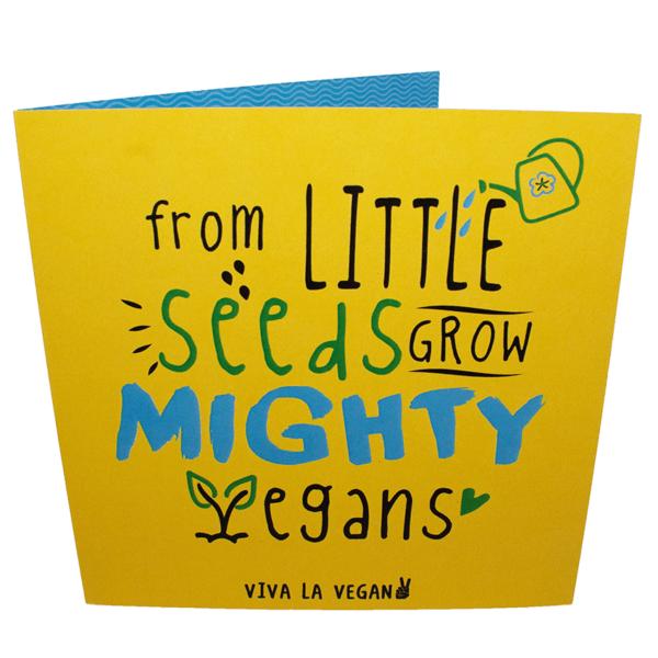 Greetings Card: Mighty Vegans Grow