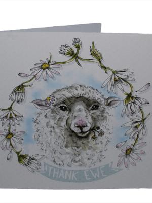vegan card thank ewe
