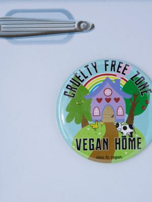 Fridge Magnet: Cruelty Free Zone - Vegan Home