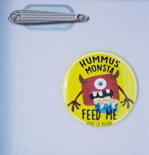 Fridge Magnet: Hummus Monsta