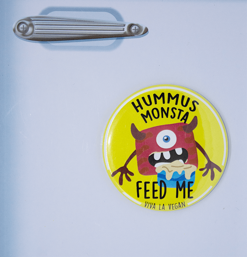 Fridge Magnet: Hummus Monsta