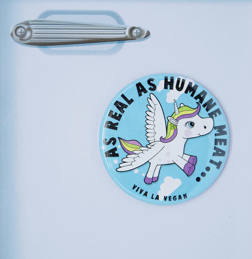 Fridge Magnet: As Real as Humane Meat