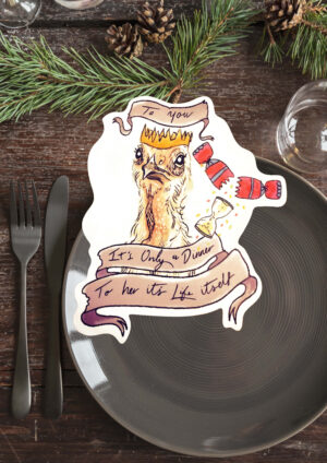 To you its just dinner , to her it's life itsself vinyl sticker by eco ethical brand Viva La Vegan