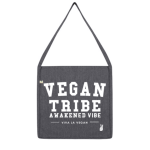 Vegan Tribe Bag made with recycled plastic bottles made by eco ethical brand viva la vegan