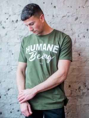 humane being green t shirt