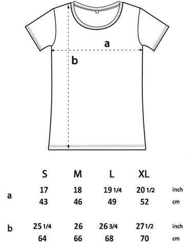 t shirt size spec
