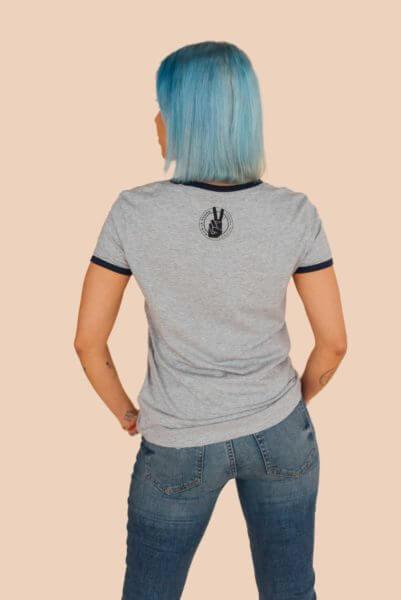 animal liberation grey tshirt back
