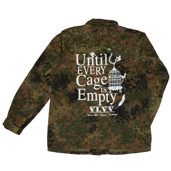 REWORKED VLVV: Army Surplus Camo : Until Every Cage Is Empty Jacket (unisex)