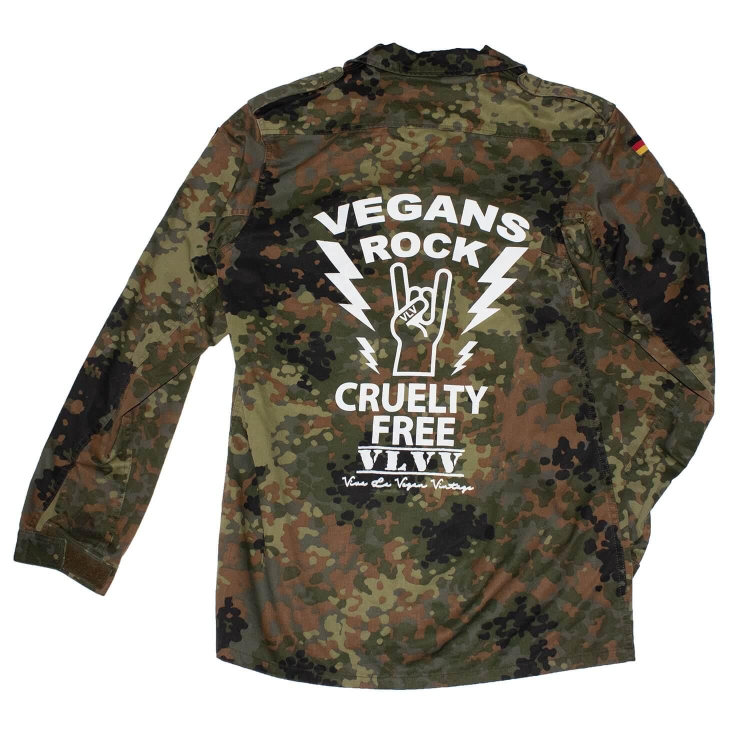 REWORKED VLVV: Army Surplus Camo : Vegans Rock (unisex)