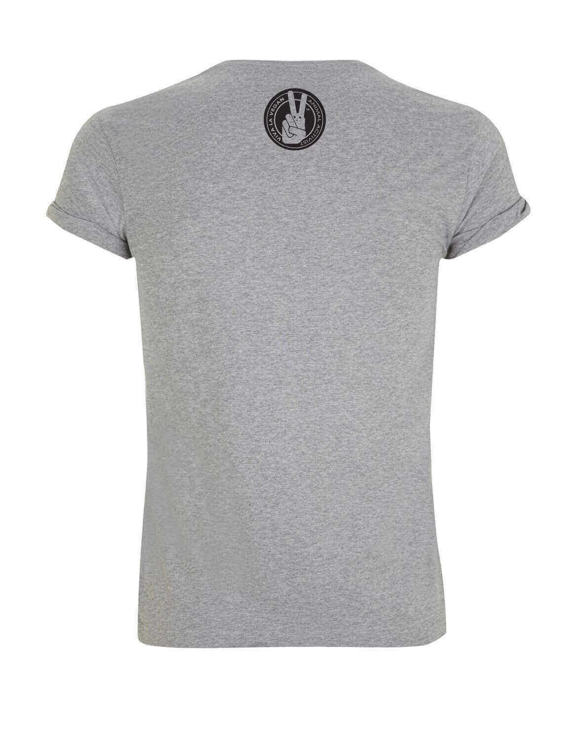 Unisex Tshirt : Vegan for life - Not for likes GREY MARL