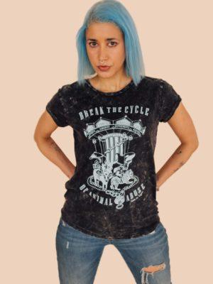 Ladies Break The Cycle Acid Wash Colour organic cotton vegan tshirt