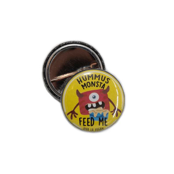 25mm hummus monsta badge