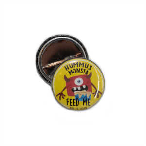 25 mm Statement Badge: Hummus Monsta