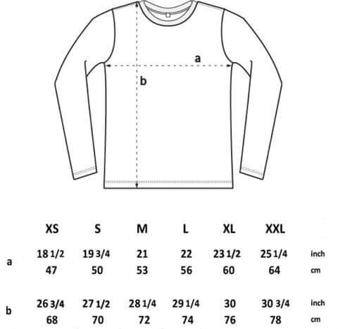 longsleeve t shirt spec