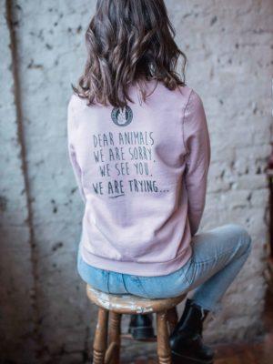 dear animals vegan sweatshirt
