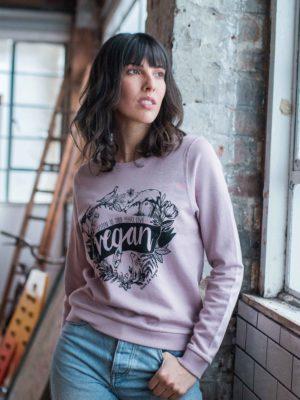 pink vegan sweatshirt