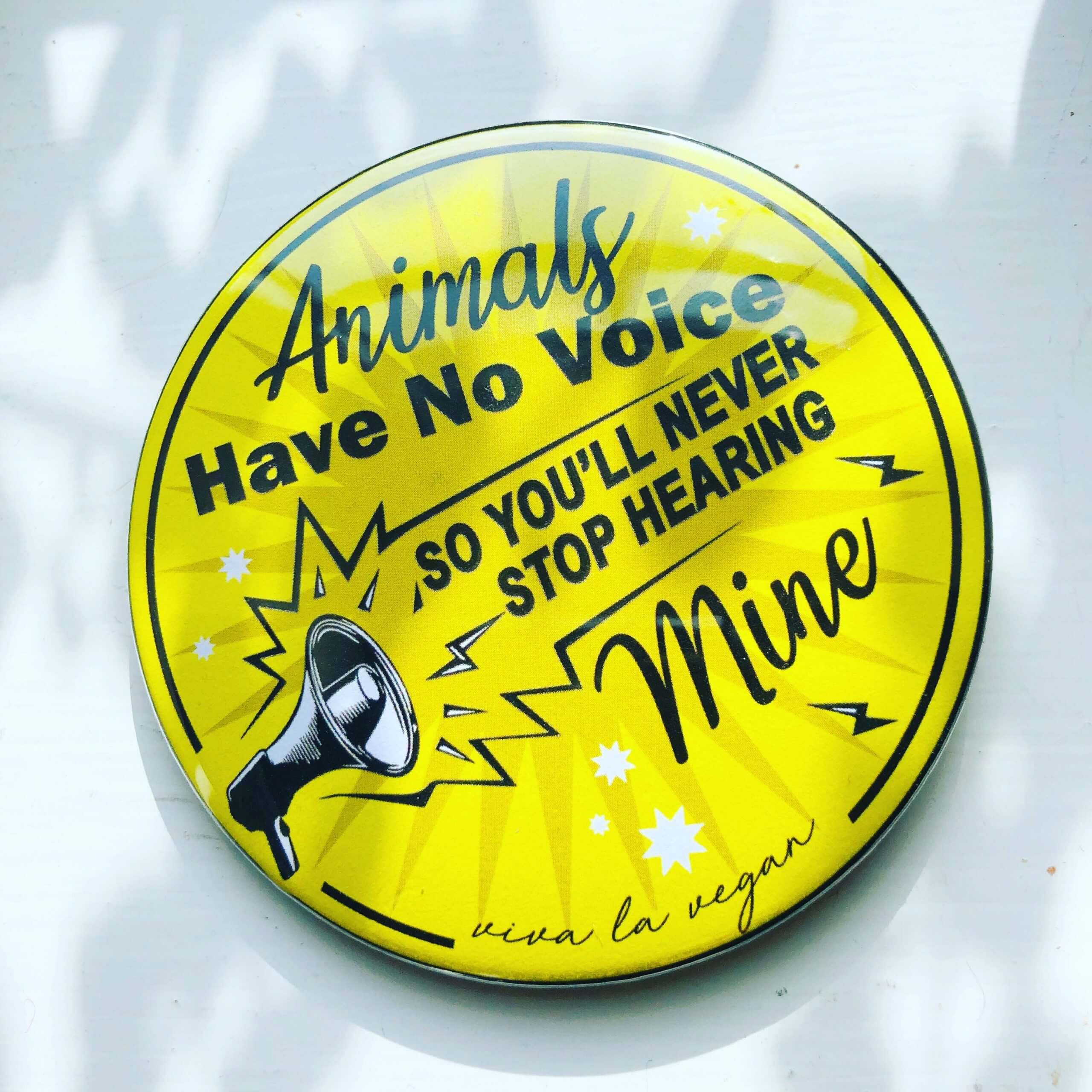 76 mm Big Impact Badge: Animals have no voice