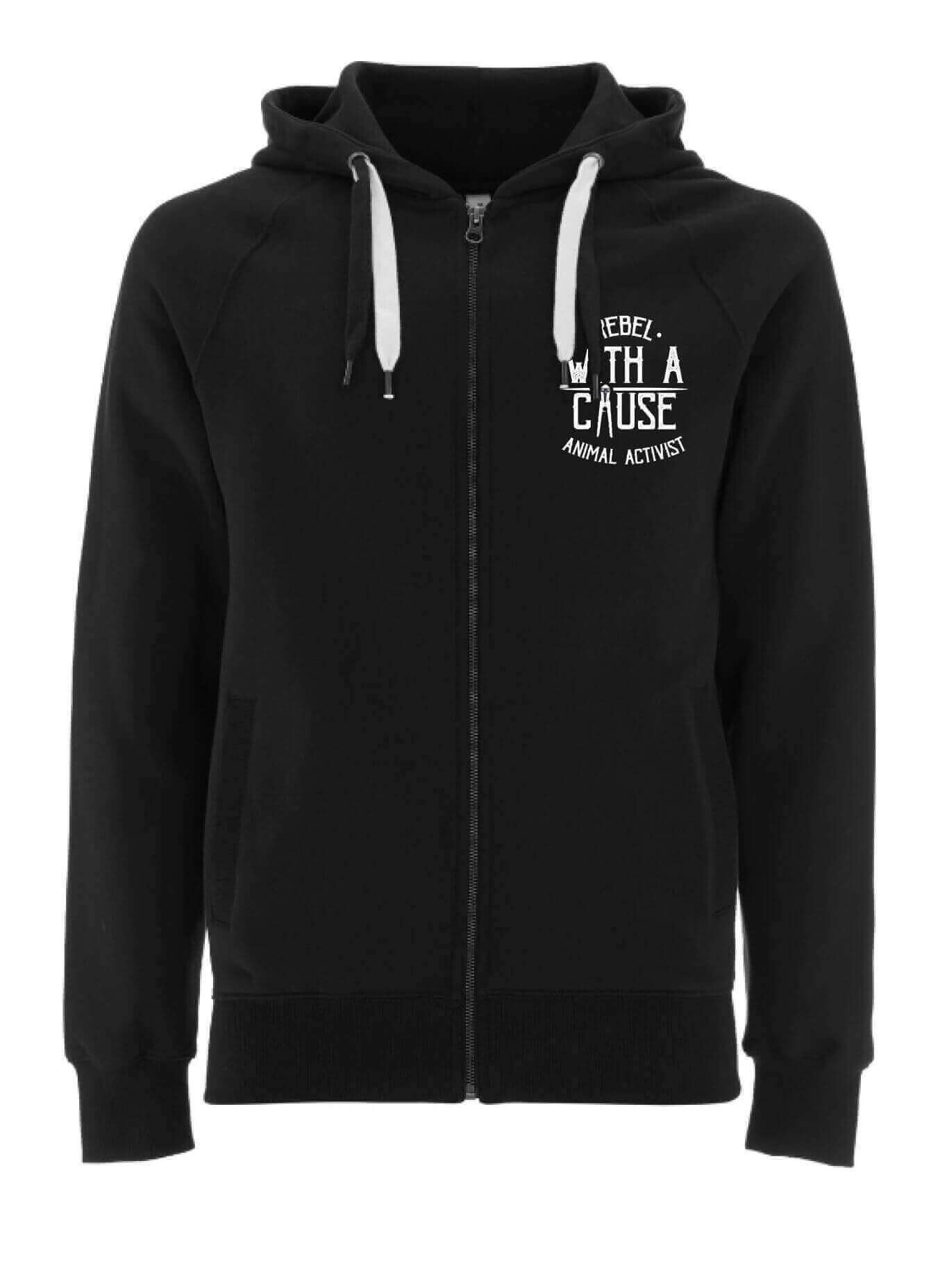 UNISEX Zip Through Hoodie : Rebel With A Cause