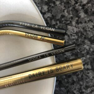 6 piece reusable stainless steel straw set: The Last Straw