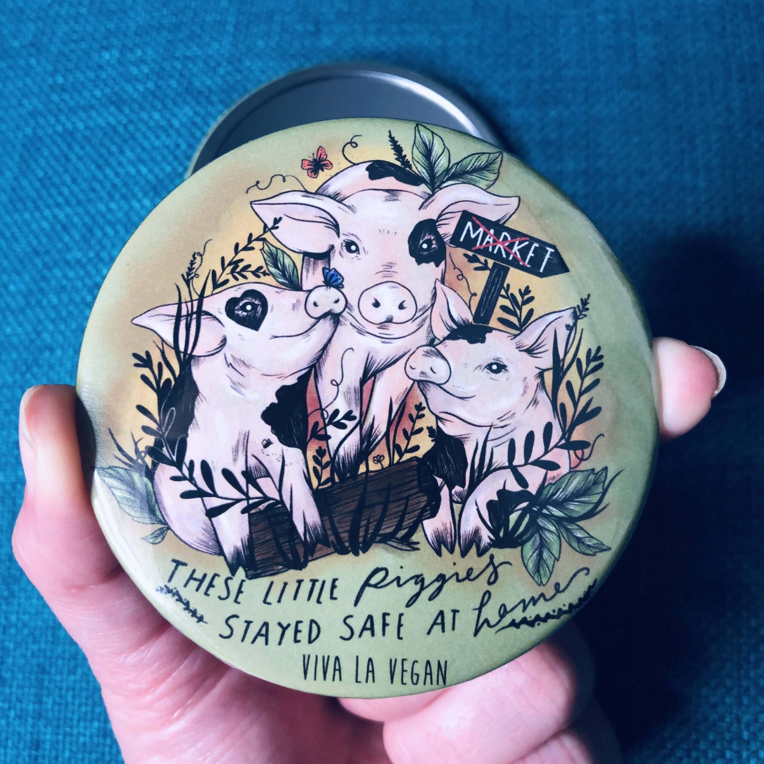 Pocket Mirror : These Little Piggies Stayed Safe At Home