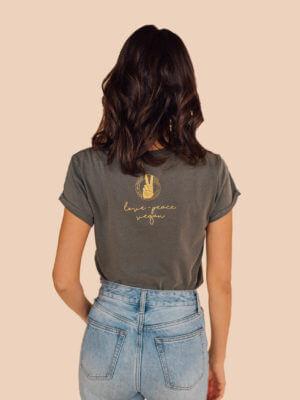 love peace vegan t shirt