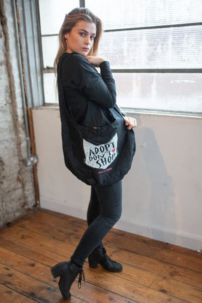 Adopt don't shop organic monk bag