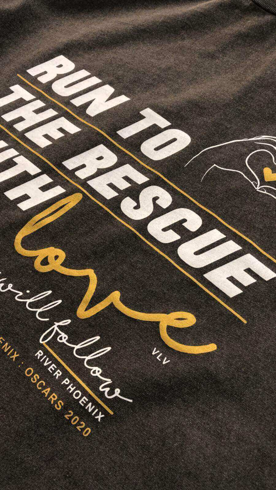 Women's Tshirt : Run To The Rescue With Love