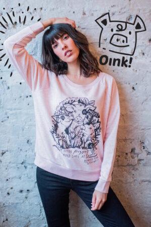 no little piggies to market sweatshirt