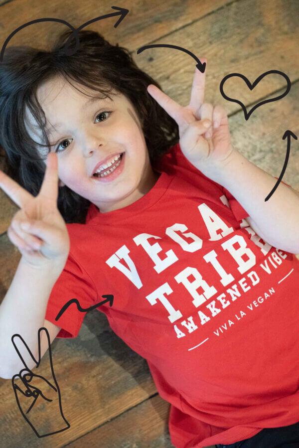 children vegan tribe t shirt