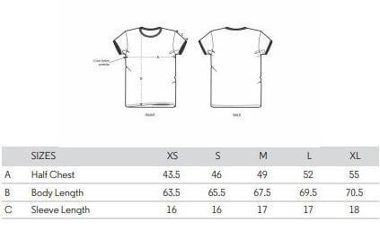 ladies t shirt spec