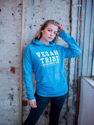 blue vegan tribe hoodie