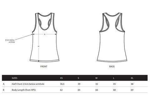 womens vest size spec