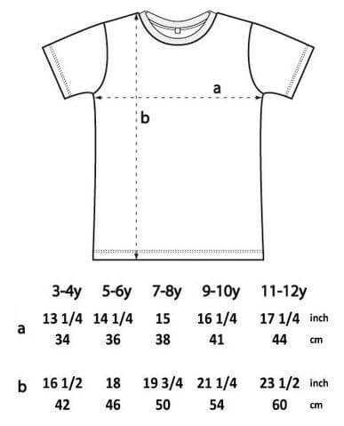 childrenwear size chart