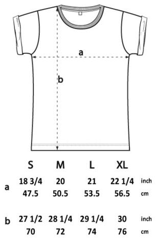 roll sleeve t shirt spec