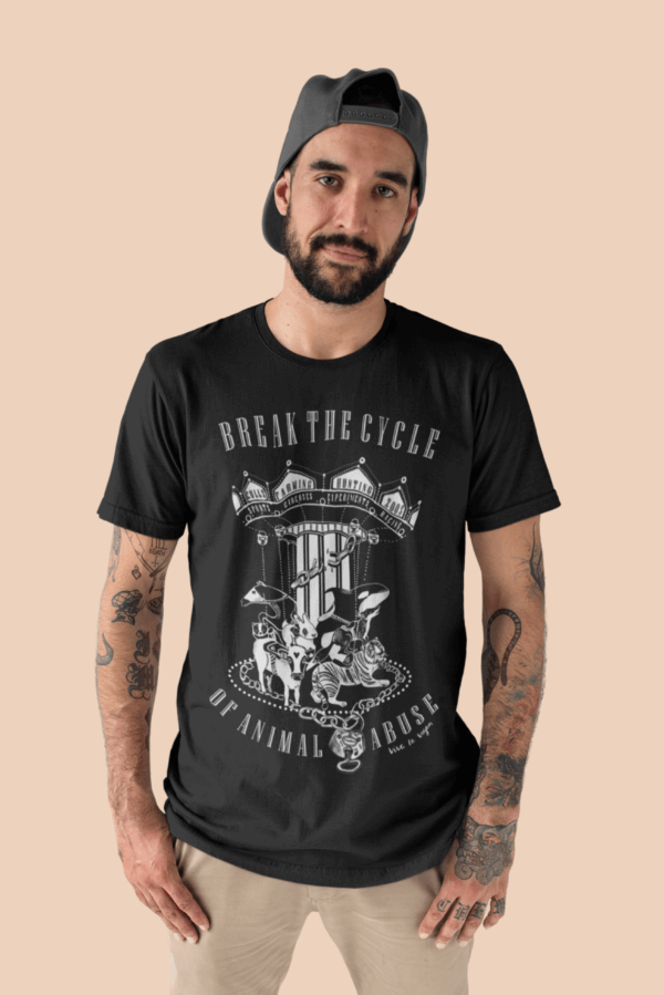 Unisex Tshirt black : Break The Cycle by eco-ethical